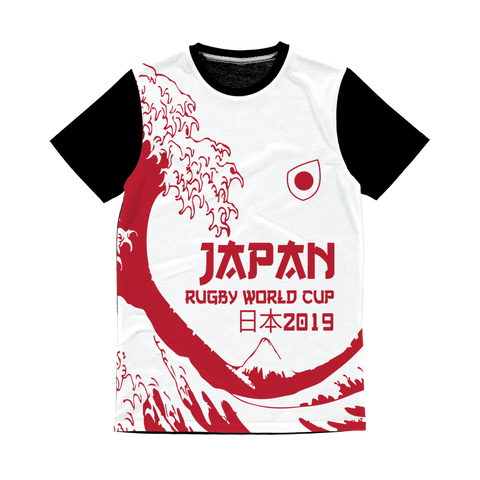 Ladies - Japan - 'Great Wave' Panel T-Shirt