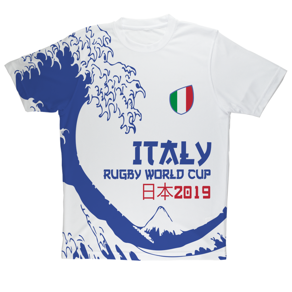 Mens - Italy - 'Great Wave' Performance T-Shirt