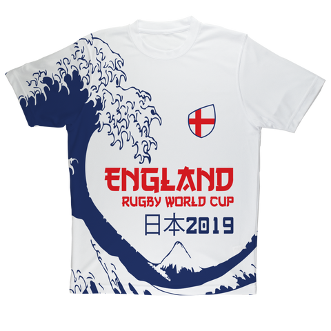 Mens - England - 'Great Wave' Performance T-Shirt