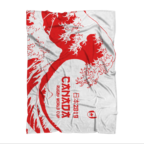 'Great Wave' - Canada Throw Blanket