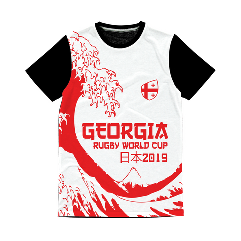 Ladies - Georgia - 'Great Wave' Panel T-Shirt