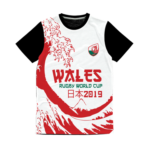 Mens - Wales 'Great Wave' Panel T-Shirt
