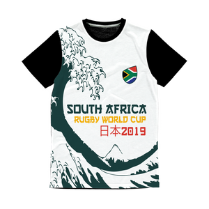 Mens - South Africa - 'Great Wave' Panel T-Shirt