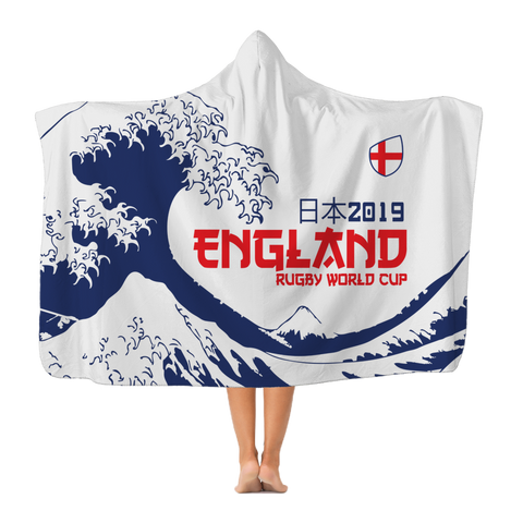 England - 'Great Wave' Hooded Blanket