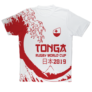 Mens - Tonga - 'Great Wave' Performance T-Shirt
