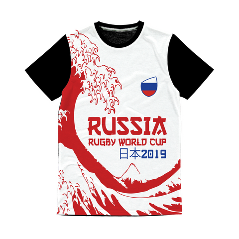 Ladies - Russia - 'Great Wave' Panel T-Shirt