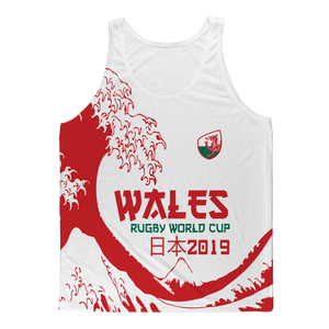 Mens - Wales 'Great Wave' Athlete Vest