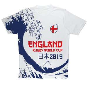 Ladies - England - 'Great Wave' Performance T-Shirt