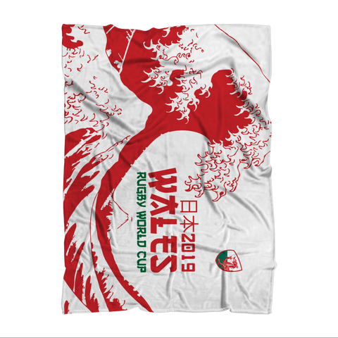 'Great Wave' - Wales Throw Blanket