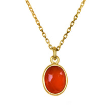 Load image into Gallery viewer, orange carnelian gold pendant necklace