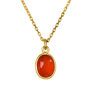 orange carnelian gold pendant necklace