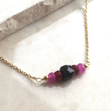 Load image into Gallery viewer, Black and Pink Chrysalis Necklace