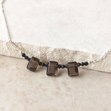 Load image into Gallery viewer, Smoky Quartz Silver Castle Necklace