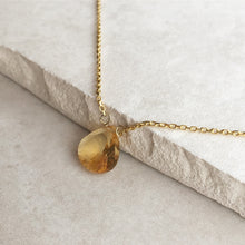 Load image into Gallery viewer, Citrine Gold Necklace