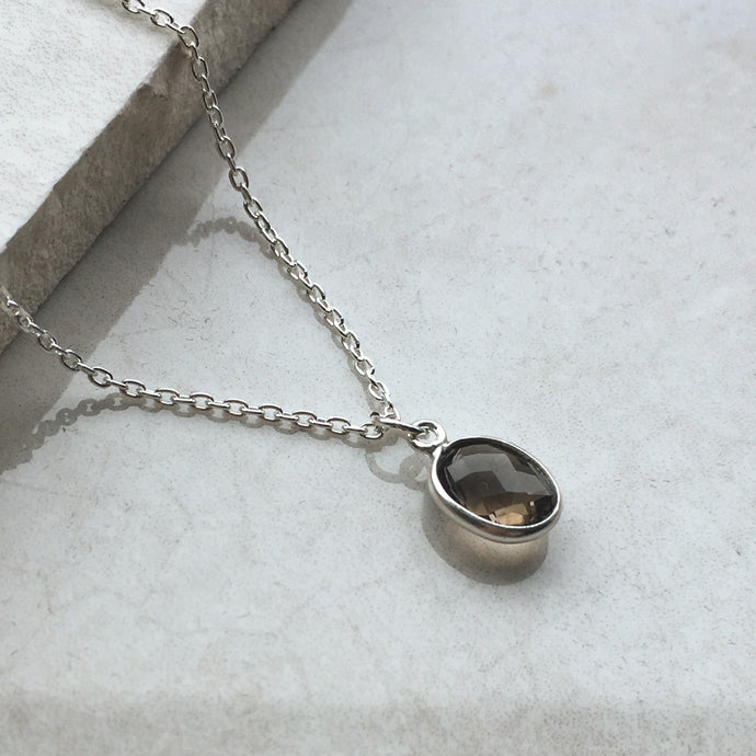Smoky Quartz Pendant Necklace