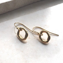 Load image into Gallery viewer, Organic ring gold Earrings