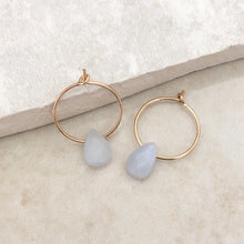 Load image into Gallery viewer, Chalcedony Hoop Earrings
