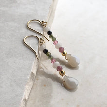 Load image into Gallery viewer, Tourmaline Drop Earrings