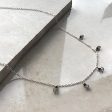 Load image into Gallery viewer, Grey and Black Boho Necklace