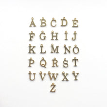 Load image into Gallery viewer, gold charm letters for initial necklace