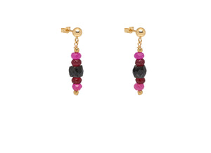Pink and Black Chrysalis Earrings