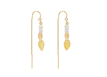 Load image into Gallery viewer, Yellow Opal Threader Earrings