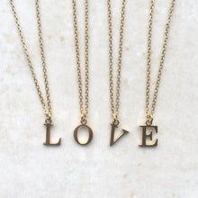 Load image into Gallery viewer, Gold Initial Charm Necklace