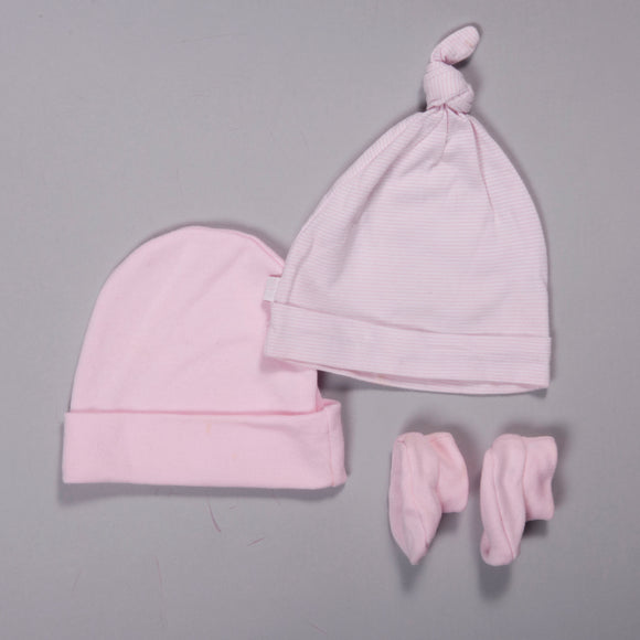 Pack 2 gorritos + medias 0-3 m
