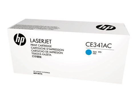 HP 651A (CE341AC) LaserJet Enterprise 700 Color MFP M775 Cyan Original LaserJet Contract Toner Cartridge (16000 Yield)