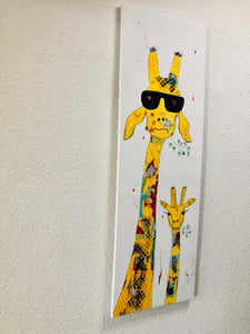 TABLEAU GIRAFE POP ART