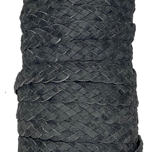 10MM / 5 STRAND FLAT BRAID - Charcoal - Park Avenue Trimming