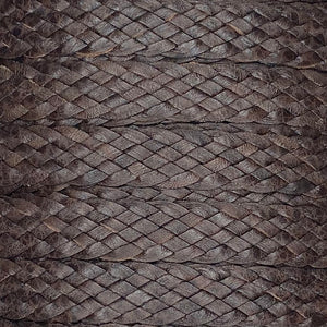 12.7 MM / 6 STRAND FLAT BRAID - Brown - FLAT BRAID Park Avenue Trimming