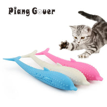 Load image into Gallery viewer, Soft Silicone Mint Fish Cat Toy Catnip Pet Toy Clean Teeth Toothbrush Chew Cats Toys