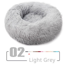 Load image into Gallery viewer, Round Plush Cat Bed House Cat Mat Winter Warm Sleeping Cats Nest Soft Long Plush Dog Basket Pet Cushion for Cats Accessories