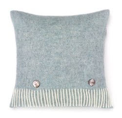Wool Cushion Duck Egg Blue
