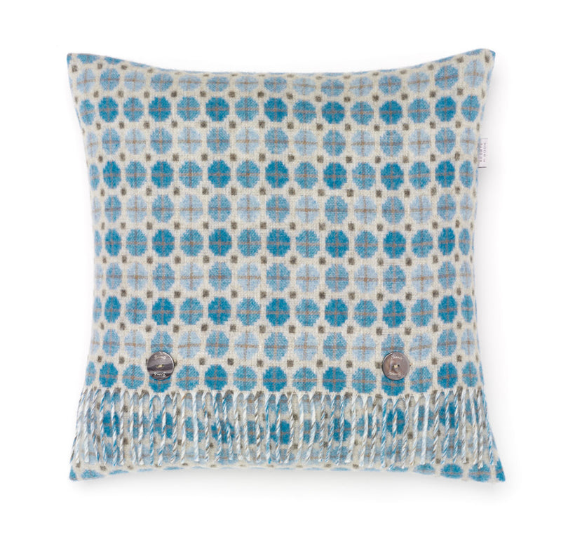 Wool cushion Milan Aqua