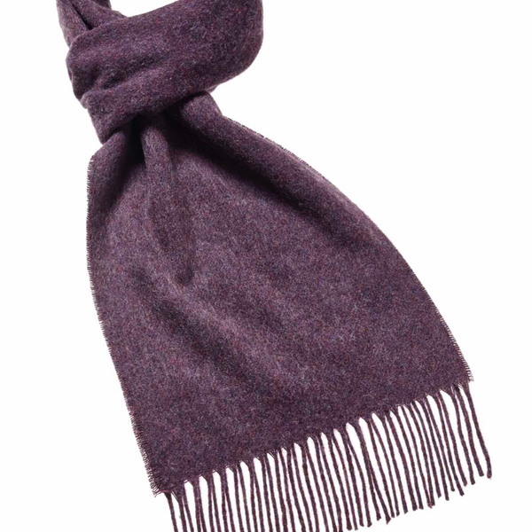 Plain wool scarf Heather