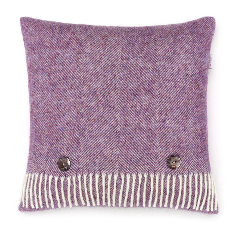 Herringbone Wool Cushion lavender
