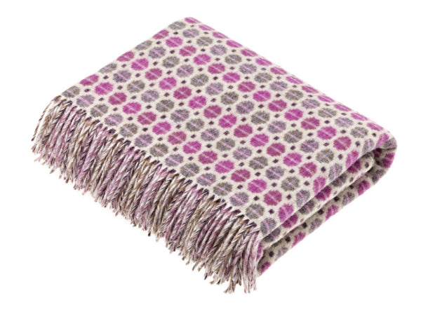 Wool throw Milan  lavender
