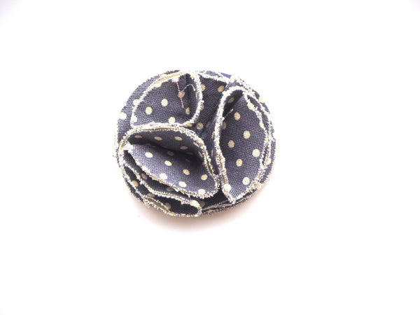 Dog collar flower accessory  - denim spot