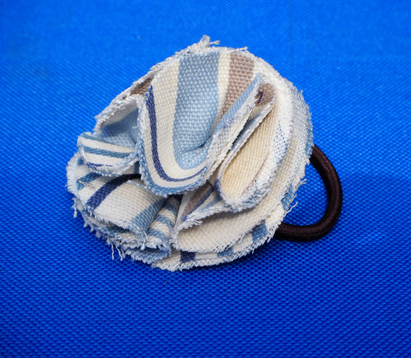 Children's flower hair bobble Chambray