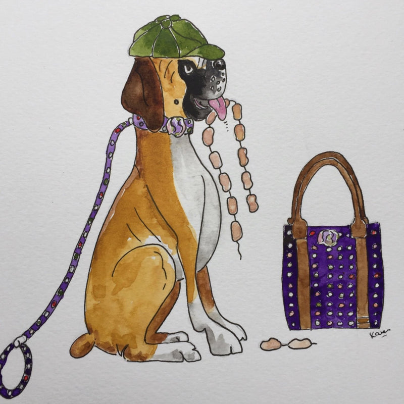 "Hettie art print  "" Anyone seen the sausages  ? """
