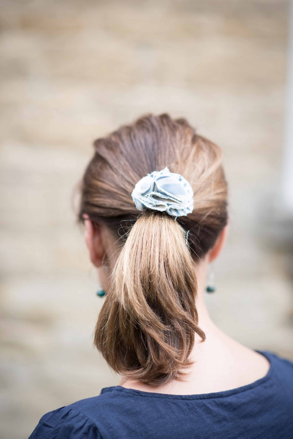 Hettie ladies hair bobble Chambray