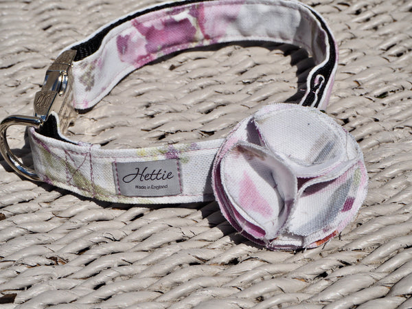 Dog collar flower accessory  -crocus