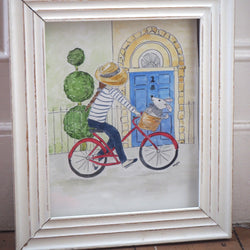 "Hettie art print "" Out for a spin """