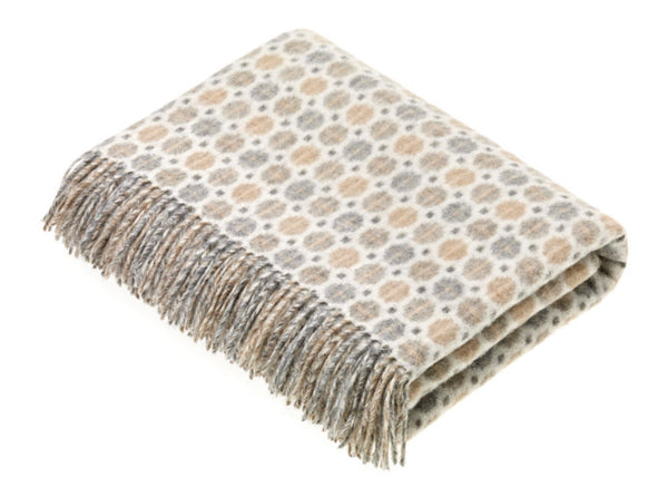 Wool throw Spa natural
