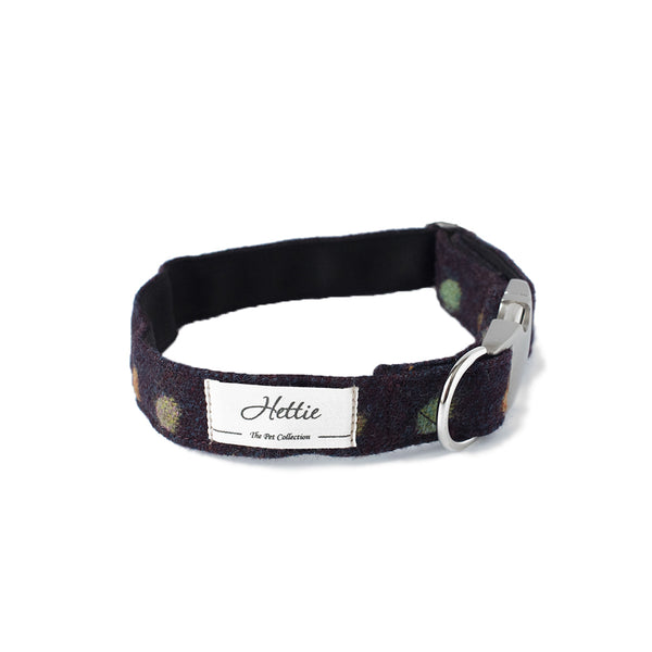Dog Collar - Multispot Wine