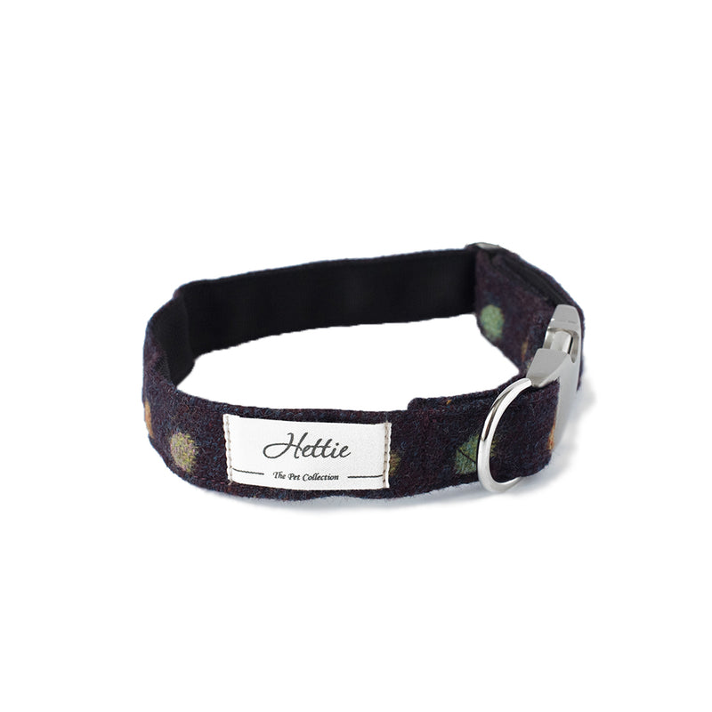 Dog Collar - Multispot Wine + FREE Gift