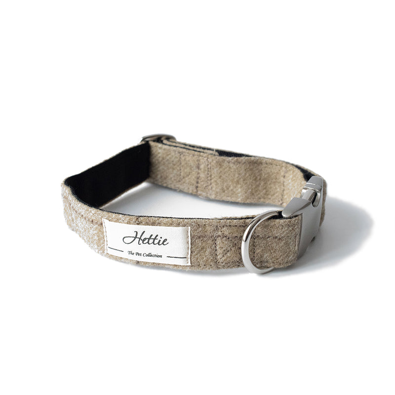 Dog Collar - Slate Oatmeal <br> + FREE Bowtie or Flower