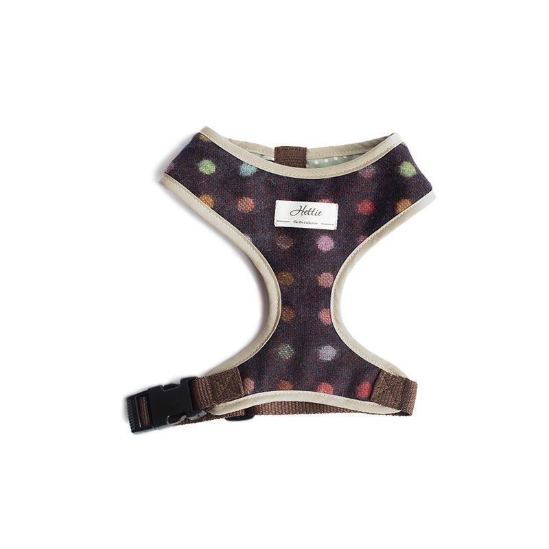 Scooby Dog Harness - Multispot Wine